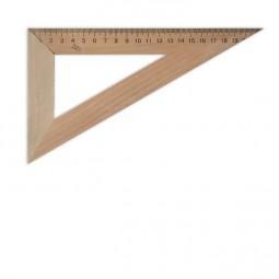 Треугольник деревянный 22 см 60°х90°х30°(шелкография)