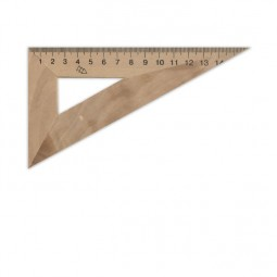 Треугольник деревянный 16 см 30°х90°х60° (шелкография)