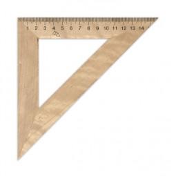 Треугольник деревянный 16 см 45°х90°х45° (шелкография)