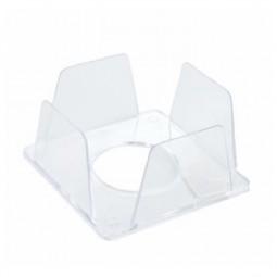 Бокс для бумаг 90х90х45 мм, прозрачный