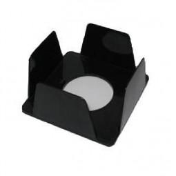 Бокс для бумаг 90х90х45 мм, черный