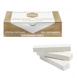Мел белый квадратный, школьный, картонная коробка, 50 шт * 70х15х10 мм