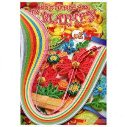 Набор для квиллинга на планшете № 2, 10 цветов, 100 полосок 3 мм х 400мм