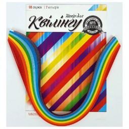 Набор для квиллинга на планшете «Радуга», 7 цветов, 100 полосок 5 мм х 420мм