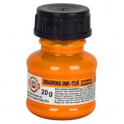 Тушь флуоресцентная KOH-I-NOOR, оранжевая, 20г