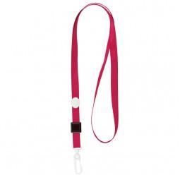Шнурок для бейджа с пласт. карабином, красный 4531