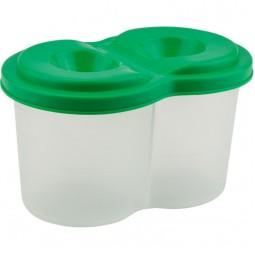 Стакан-непроливайка двойной, зеленый