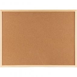 Доска пробковая, 90х120 см., деревянная рамка