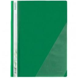 Скоросшиватель с угловым карманом, зеленый