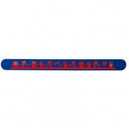 Линейка-браслет 30 см, синяя