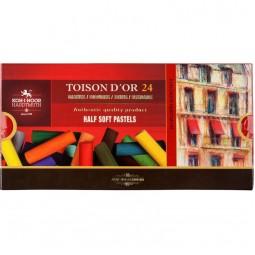 Пастель сухая TOISON D'OR, 1/2, 24 цв.