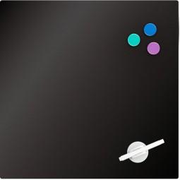 Доска стеклянная магнитно-маркерная 45х45 см, черная