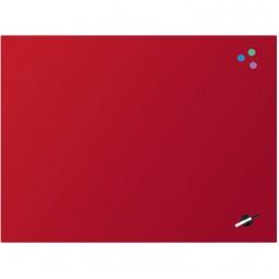 Доска стеклянная магнитно-маркерная 90x120 см, красная