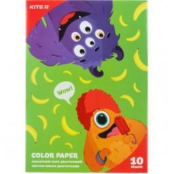 Бумага цветная двустор. (10 л/10 цв.), А5 Kite Jolliers