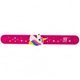 Линейка-браслет 15 см с фигуркой, розовая