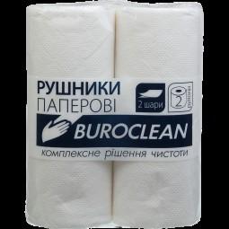 Полотенца целлюлозные Buroclean, 2 рулона, белые