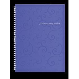Тетрадь на пружине, BAROCCO, А4, 80 л., клетка, фиолетовый