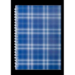 Тетрадь для записей SHOTLANDKA, А5, 48 л., клетка, картонная обложка, синяя