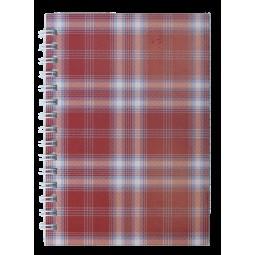 Тетрадь для записей SHOTLANDKA, А6, 48 л., клетка, картонная обложка, бордовая
