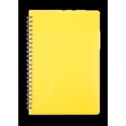 Тетрадь для записей GLOSS, А5, 80л., клетка, пластиковая обложка, желтый