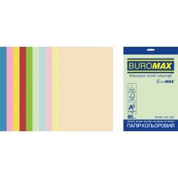 Набор цветной бумаги PASTEL+INTENSIVE, EUROMAX, 10 цв., 50 л., А4, 80 г/м²