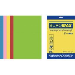 Набор цветной бумаги INTENSIVE, EUROMAX, 5 цв., 50 л., А4, 80 г/м²