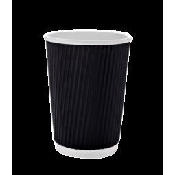 Стакан бумажный гофрированный 400 (350 мл) , термо, 25шт/уп
