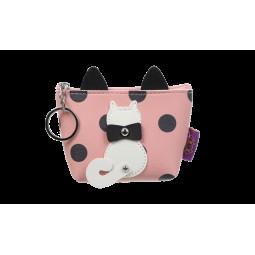 Кейс для монет PUSSY CAT, 13x10,5x5,5 см, розовый (декор: кот с подвижным хвостом)