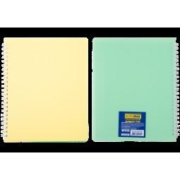 Тетрадь для записей SUMMER TIME, B5, 96л., клетка, пластиковая обложка, св.-желтый/лаймовый