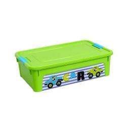 """Контейнер """"Smart Box"""" з декором My Car 14л., оливковий/оливковий/бірюзовий"""