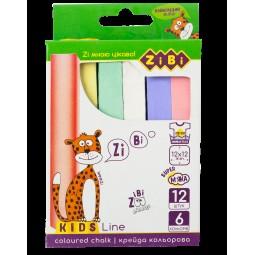 Мел цветной квадратный, 12 шт., картонная коробка, KIDS Line