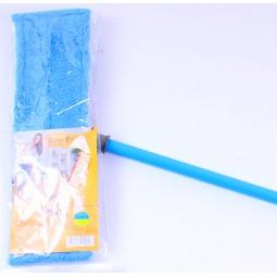 Швабра для влажной уборки, микрофибра, 42 см, синяя