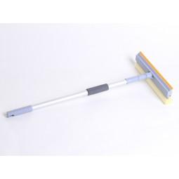 Швабра для мытья окон, губка 25см, алюминиевая ручка телескоп, 60-98см