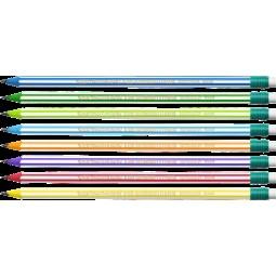 """Олівець чорнографітовий """"Evolution Stripes"""", з гумкою"""