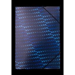 Папка на резинке A4, FLASH, ARABESKI, синяя