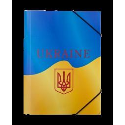 Папка на резинке В5, UKRAINE, ARABESKI, желтая
