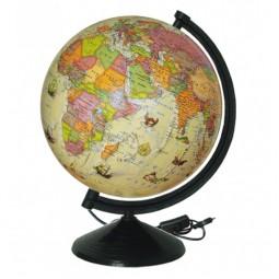 Глобус Политический под старину с подсветкой 260 мм (4820114951144)