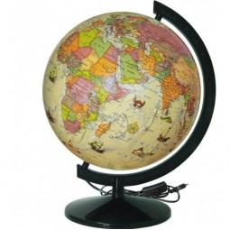 Глобус Политический под старину с подсветкой 320 мм (4820114954510)