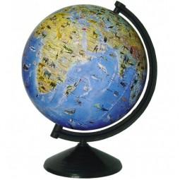 Глобус физический с животными без подсветки 260 мм (4820114952738)