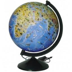Глобус физический с животными с подсветкой 260 мм (4820114952721)