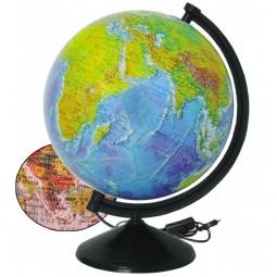 Глобус Физико-политический с подсветкой 260 мм (4820114952820)