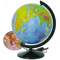 Глобус Физико-политический с подсветкой 320 мм (4820114954077)